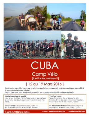Camp à Cuba – 12 Mars2016