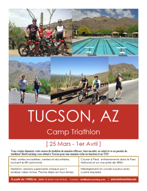 Camp Triathlon à Tucson,AZ